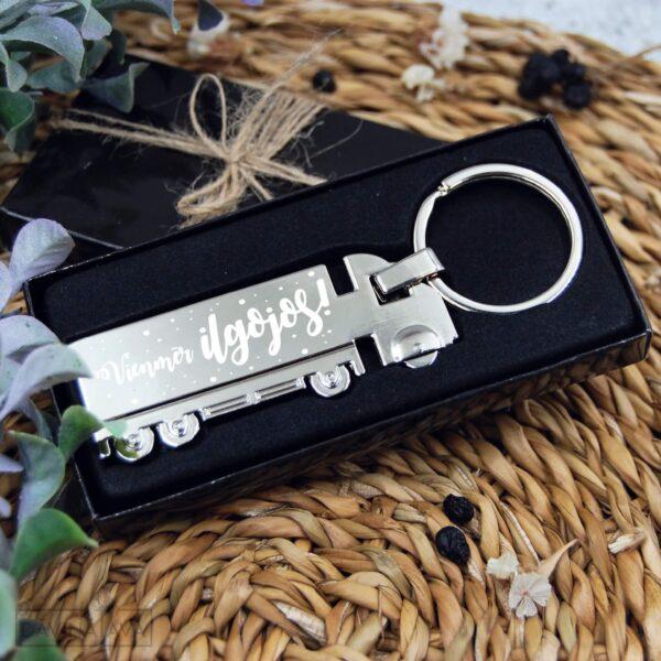 Atslēgu piekariņš tālbraucējam, smagā mašīna atslēgu dekors, aksesuārs ilgojoties mājās